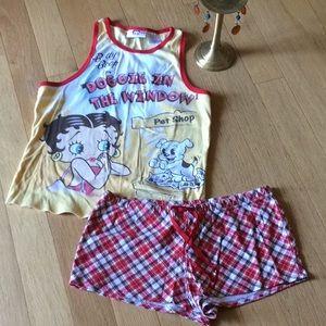 Betty Boop shortie pj